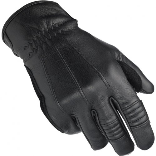 Biltwell, guanti da moto in pelle Cruiser, Custom Cafe Racer, retro, Uomo, Black, M