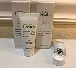 2x Philosophy Take A Deep Breath Oxygenating Oil Free Gel Cream , Face
