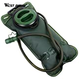 #5: West Biking Bicycle Camelback Water Bag 2L Large Capacity Tpu Camping Traveling Cycling Water Bag Bladder Sport Backpack - Green