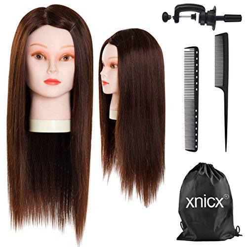 """xnicx Capelli Naturall 22"""" (57cm) Testastudio poupette capelli lunghi Testastudio Parrucchieri testina studio parrucchieri Castano molto chiaro"""