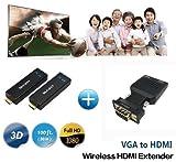 HDMI-Sender-Empfänger messen W2H Nano Wireless VGA Extender bis zu 30M / 100FT Unterstützung 1080P 3D
