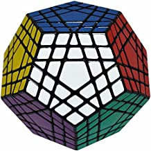 Megaminx 5x5 Puzzle Cubo, LSMY Dodecaedro Toy Negro