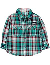 Beebay Infant-boy Teal Green Check Shirt (Green Check)