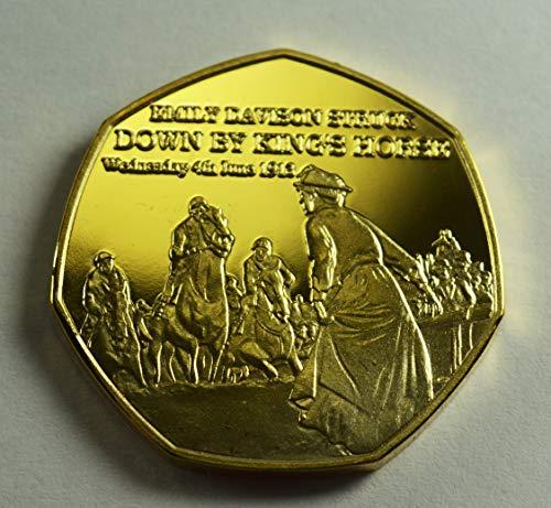 Suffraget Emily Davison Gedenkmünze aus 24 Karat Gold zum 20. Jahrhundert The Centurion Serie Alben / 50p Münzen Jagd Sammler Epsom Derby 1913 Stimmen für Frauen - Gold Serie 20