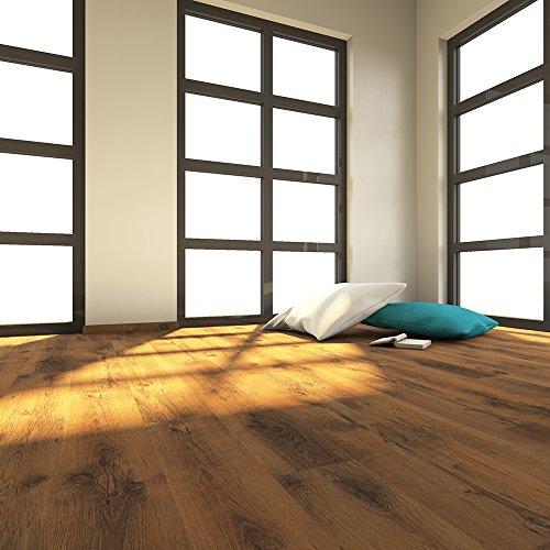 ELESGO S-Klick Laminat Glattkante ( NKL 31 ) Eiche Western + Wood Texture 1299 x 190 x 7 x mm - Echtholz-laminat