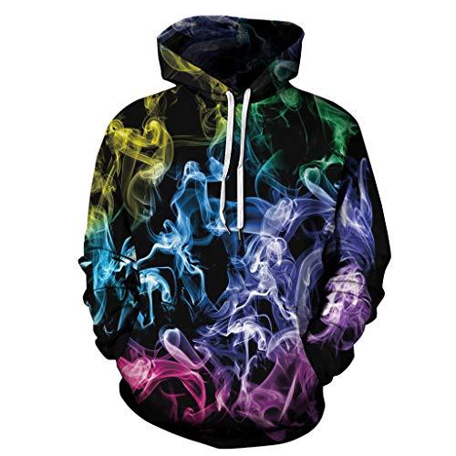 Ears Halloween Frauen Männer 3D Print Pullover Paare Langarm Hoodie Sweatshirt Tops baumwollpullover Plus Größe Tunic Beiläufig Baumwolle Sweater Round Neck Sweatshirt Winter Jacke -