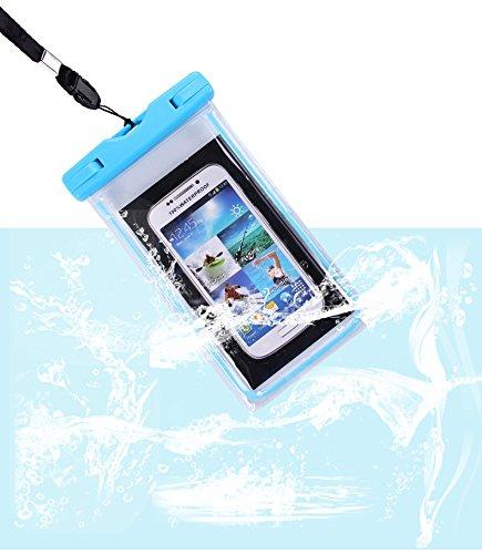 aodio impermeabile Custodia beteul polvere densità Schützhülle per denaro elettronici e smartphone Samsung iPhone 66S 6Plus 77PLUS 55S Huawei ecc. fino a 6pollici ideale per la spiaggia acqua