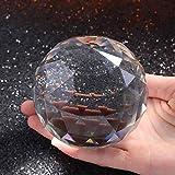 TYGJB Esfera de Cristal de Cuarzo Bola de Cristal facetada Esfera de Cristal Minerales Feng Shui Lucky Crystals Bolas Decoración para el hogar kristallen Bol (80mm)