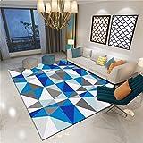 3D Printing & Draping Wohnzimmer Dekorative Teppich Geometrische Muster Bodenfliesen Europäischen Einfachen Stil Rechteckigen Teppich Kinderteppich Schlafzimmer rutschfeste Teppich Teppich Teppiche