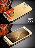 D-kandy Luxury Metal Bumper + Acrylic Mirror Back Cover Case For For HUAWEI P9 - GOLD Amazon