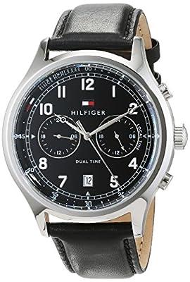 Tommy Hilfiger Reloj Análogo clásico para Hombre de Cuarzo con Correa en Cuero 1791388