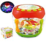 #9: MousePotato Aquarium Shaped Flash Drum Rotating 3D Lights & Fishes with Music, Songs and Learn English