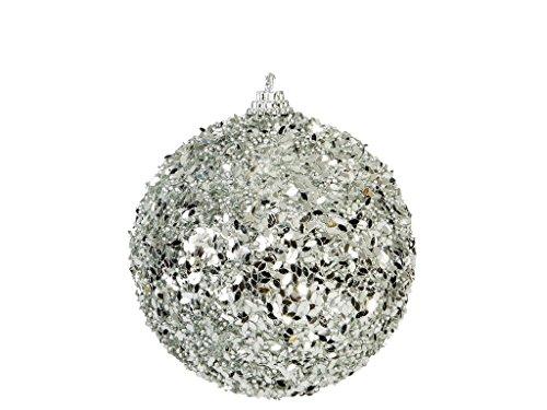 ALDI 6 Stk. Weihnachtskugel Christbaumkugel Dekokugel Weihnachstdeko Weihnachten Größe nach Wahl, Farbe: silber (8 cm)