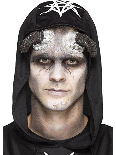 ner Dämon mit Klebemittel Halloween Kostüm Zubehör (Kostüm Dämon Hörner)