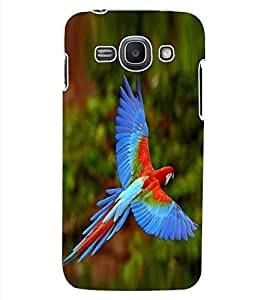 ColourCraft Beautiful Parrot Design Back Case Cover for SAMSUNG GALAXY ACE 3 S7272 DUOS