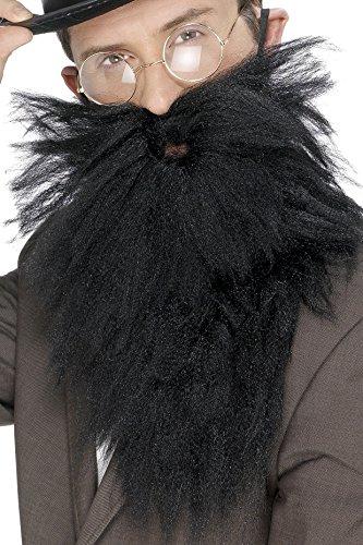 Smiffys, Herren Langer falscher Bart, One Size, Schwarz, 22832 (Langer Bart Kostüm Ideen)