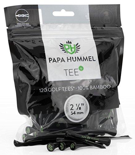 Preisvergleich Produktbild Premium Golf Tees - 54mm - 120 Stück - 100% Bambus
