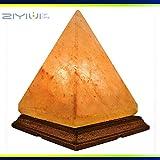 ZIYIUI lampada al sale in cristallo naturale lampada da tavolo piramidale originale al 100% di qualità sale salato lampada da sale himalayana (2,5 kg) luce notturna per una varietà di atmosfera calda