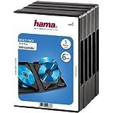 Hama Custodia DVD per 6 Dischi, Confezione da 5, Nero