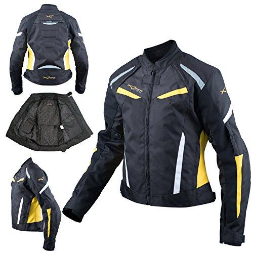 Moto Giacca Donna Sport Impermeabile Tessuto Riflettente Fluo M