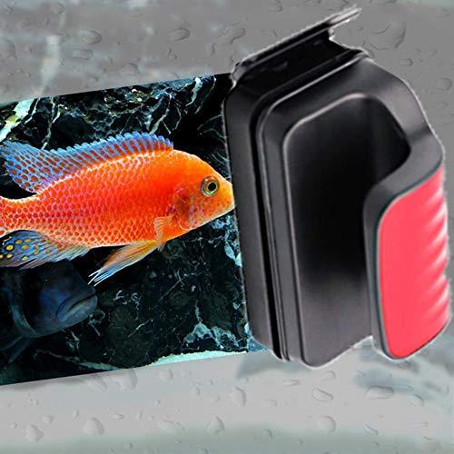 XXDYF Magnetische Aquarium Glasreiniger, Schwimmender Aquarien Scheiben-Reinigungsmagnet Glasreiniger mit Antirutsch-Griff für Aquarien,M
