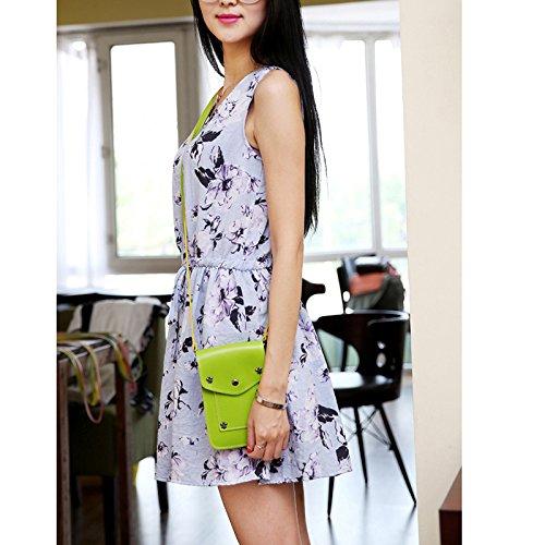 Feixiang, Borsa a tracolla donna Green