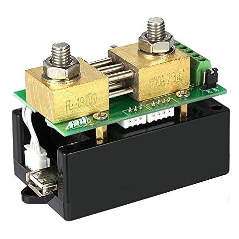 KKmoon DC 0.01-400V 0.1-300A Consommation d'Energie Digital Bidirectionnel en Ecran Couleur, Tester Courant / Voltage / Capacité / Quantité d'Electricité / Coulomb etc.