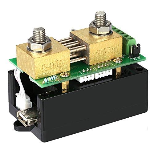 Preisvergleich Produktbild KKmoon 0,01-400V DC 0,1-300A Multifunktionale Drahtlose Bi-direktionale Digitalspannung Aktuelle Power Amperemeter Voltmeter Kapazität Coulomb Meterzähler(VAC-4300A)