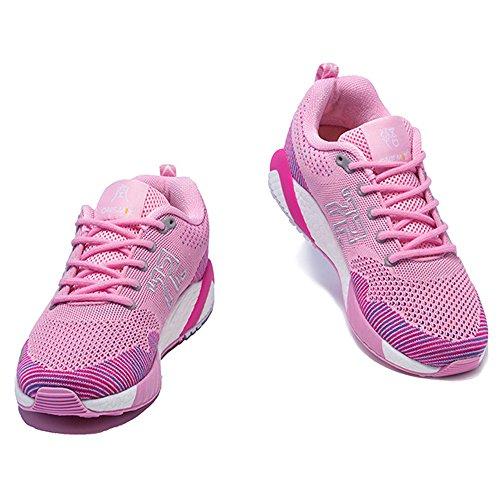 ONEMIX Atletica Degli Uomini Scarpe Da Corsa Delle Donne Sneakers Di Jogging Unisex Rosa / bianco