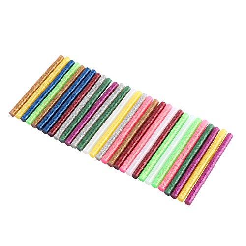 Pegamento adhesivo de colores de fusión caliente, 7 x 100 mm, multicolor