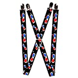 Buckle Down Unisex 80s Suspenders, Sample, One Size