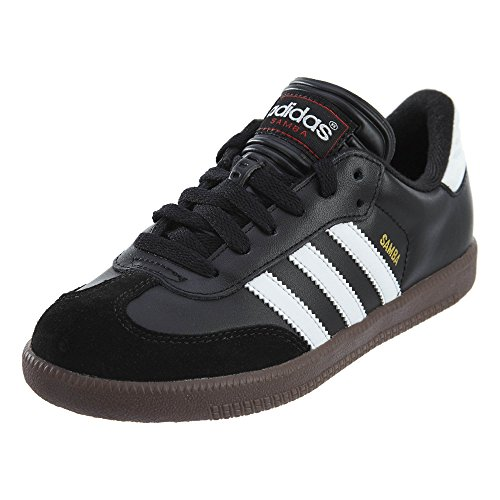 adidas Samba Classic Leather Soccer Schuhe (Toddler/Little Kid/Big Kid), Schwarz/Running Weiß,11.5 M US Little Kid, Mehrfarbig - Schwarz/Weiß - Größe: 2.5 Youth M (Adidas Toddler Sneaker)