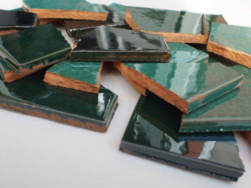 900 G, bruchmosaik mosaikfliesen mexicains de modèle en bois fait main carreaux-vert-notes