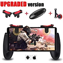 Mobile Game Controller [Upgrade Version] - MAIAGO Fortnite PUBG Mobile Controller With Gaming Trigger,Gaming Grip And Gaming Joysticks For 4.5-6.5 Inch Android IOS Phone