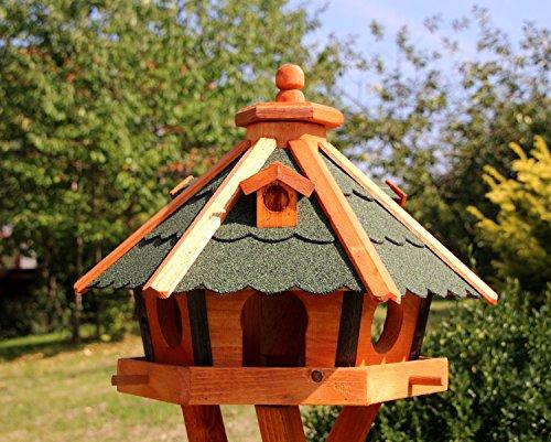 Vogelhaus, Vogelhäuser mit Solarbeleuchtung mit und ohne Ständer behandelt Typ 23 (Grün, ohne Ständer)