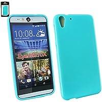 Emartbuy® HTC Desire Eye Shiny Gloss Gel Hülle Schutzhülle Case Cover Blau