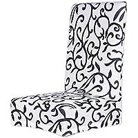 VORCOOL Sala da pranzo sedia CoverStretch rimovibile lavabile breve Intrattenimenti sedia copertura Protector sedile Slipcove stampa