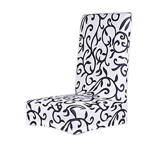 WINOMO Housse de Chaise Couverture de chaise de salle à manger pour Famille Stretch Amovible Lavable Court Repas Chaise Couvrir Protecteur Siège