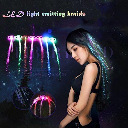 Bluelover 12 Pcs Christmas Flash Glow LED Braid Hairpin Neuheit Dekoration Für Party-Holiday-Haar-Erweiterung Von Optical Fiber