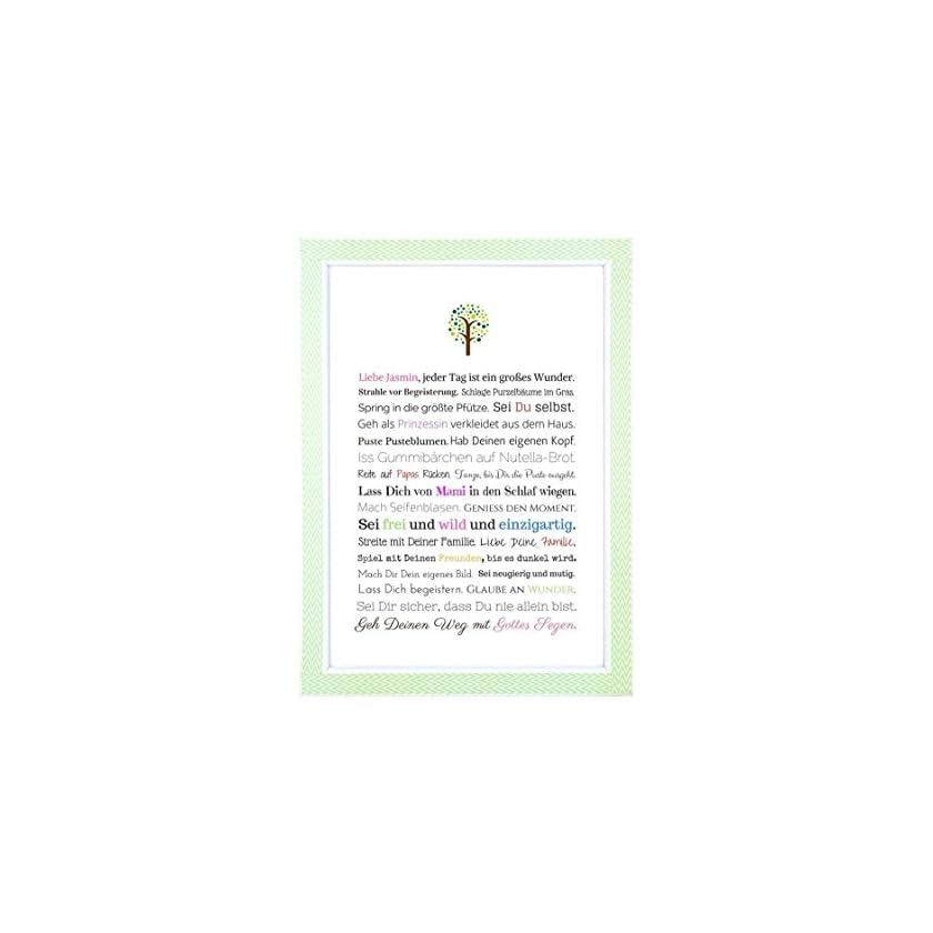 Taufe Geschenk Mädchen Personalisiertes Bild 1