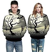 Hanomes Damen pullover, Männer Frauen Mode 3D Print Langarm Halloween Paare Hoodies Top Bluse Shirts preisvergleich bei billige-tabletten.eu