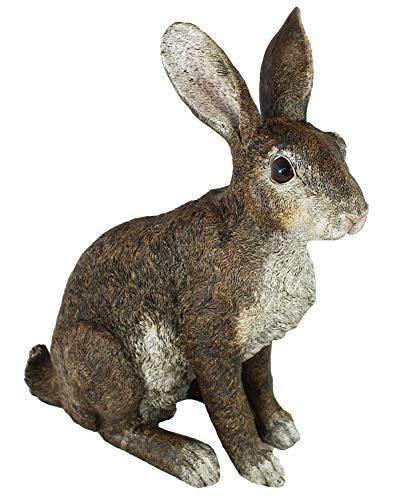 colourliving Dekofigur Hase Rammler Theo Kaninchen lebensecht Osterhase Garten Deko Dekoration (Schaf Oder Ziege Figur)