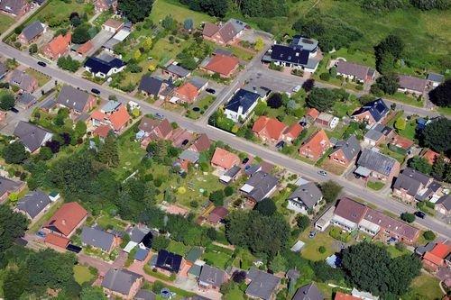 MF Matthias Friedel - Luftbildfotografie Luftbild von Am Holm in Osterrönfeld (Rendsburg-Eckernförde), aufgenommen am 13.08.12 um 11:41 Uhr, Bildnummer: 6233-08, Auflösung: 7360x4912px = 36MP - Fotoabzug 50x75cm