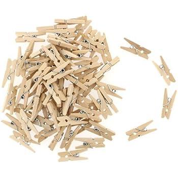 Mini Holz Wascheklammern 100 Stuck Lange 30 Mm Breite 4 Mm