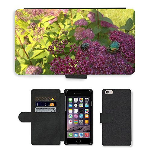 Just Mobile pour Hot Style Téléphone portable étui portefeuille en cuir PU avec fente pour carte//m00138862Rose Beetle Beetle insectes Fermeture//Apple iPhone 6Plus 14cm