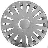 (Farbe & Größe wählbar) 16 Zoll Radkappen MALACHIT Silber passend für fast alle gängingen Fahrzeuge (universal)