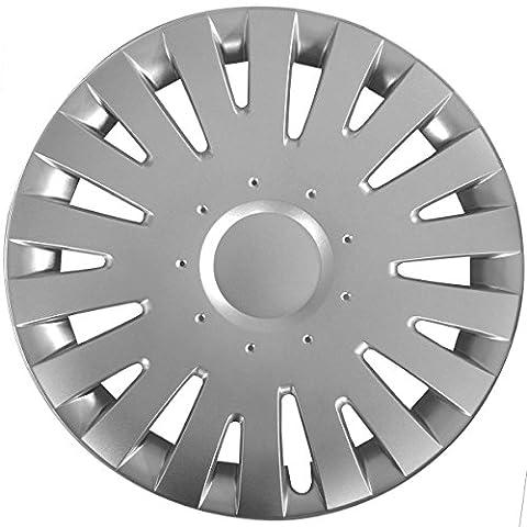 (Farbe & Größe wählbar) 14 Zoll Radkappen MALACHIT Silber passend für fast alle gängingen Fahrzeuge (universal)