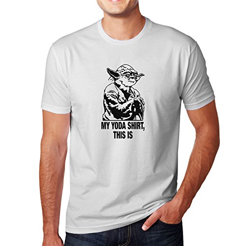 Planet Nerd Yoda Shirt This is - Herren T-Shirt Weiß