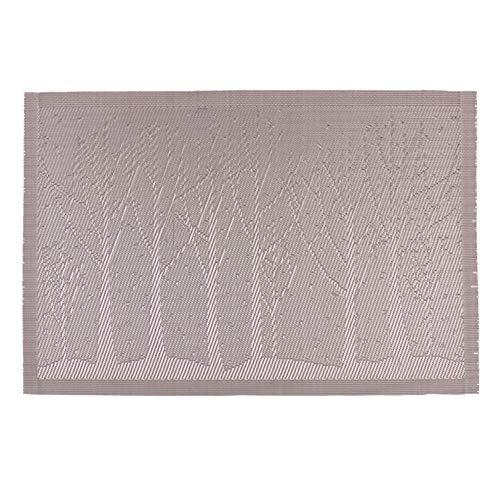 Leisial Sets de Table en PVC Écologique Napperon Antidérapants Étanche Tapis de Table Isolation Anti-Usure(1)