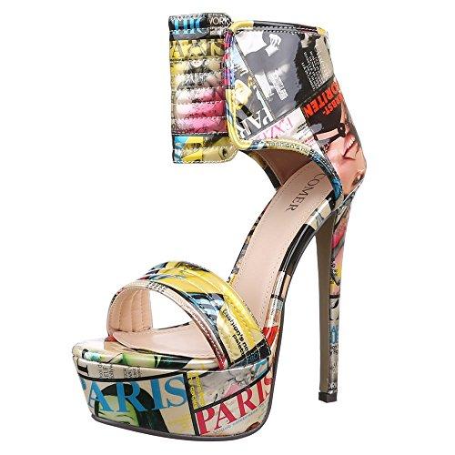 Ital-Design , Sandales femme Multicolore - Multicolor - Beige Multi